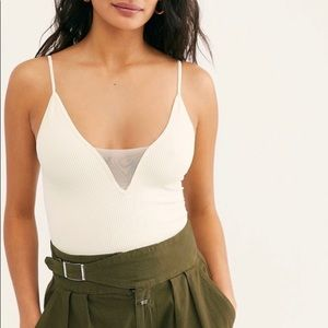 FREE PEOPLE Come Around Cami in White Size XS/S